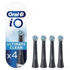 Antgaliai dantų šepetėliui BRAUN iO CB-4 Ultimate Clean Black 4ct