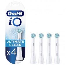 Antgaliai dantų šepetėliui BRAUN iO CW-4 Ultimate Clean White 4ct