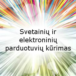Svetainių ir elektroninių parduotuvių kūrimas
